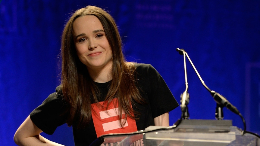 Ellen Page Busts Out of theCloset