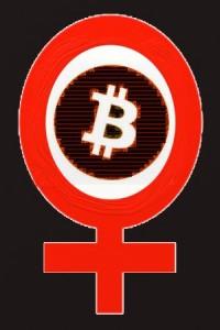 Woman in Bitcoin