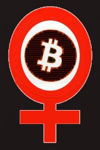 Woman in Bitcoin