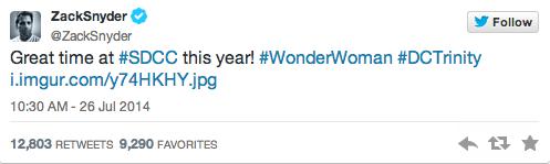 Zack Snyder tweets his CC #DCTrinity