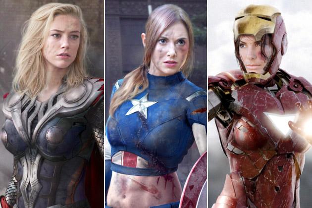 The Avengers as Women